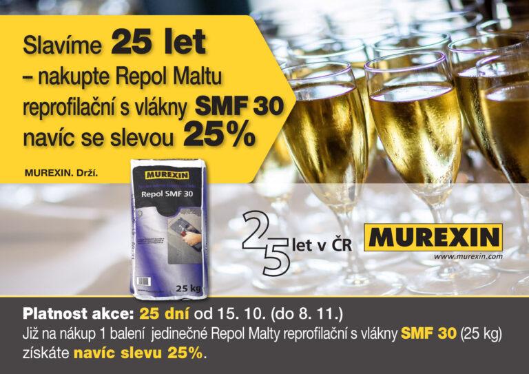 Murexin slaví 25 let a nabízí další zajímavou akci….